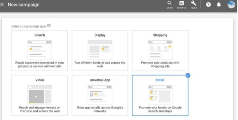 Google Ads Kampanya Modeli – Otel Reklamları