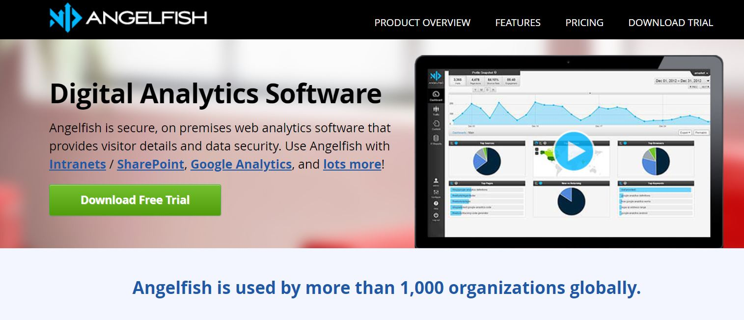 Web Site Analiz Aracı - Angelfish Actual Metrics
