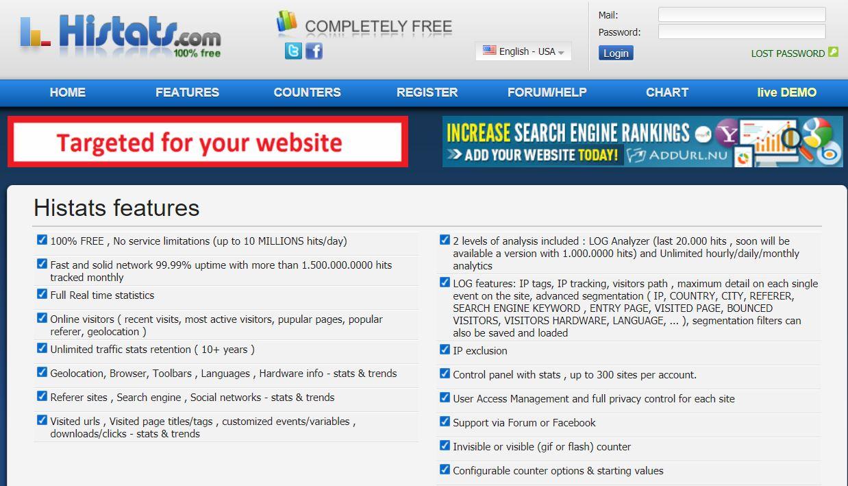 Web Site Analiz Aracı - Histats