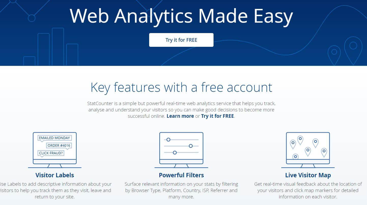 Web Site Analiz Aracı - StatCounter