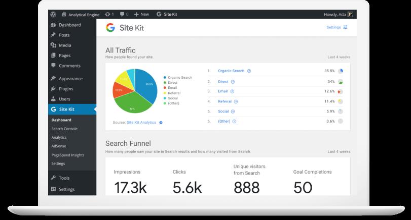 Google Site Kit Eklentisi WordPress