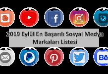2019 Eylül En Başarılı Sosyal Medya Markaları Listesi