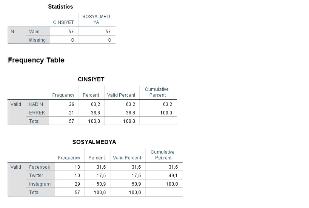 SPSS ile Veri Analizi - Frekans Tablosu Oluşturma - 3.Adım