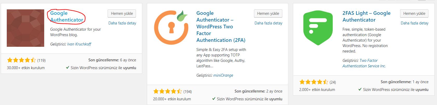 Google Authenticator Eklentisi ile İki Adımlı Doğrulama