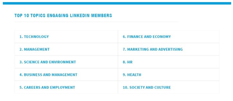LinkedIn - En Önemli Konu Başlıkları